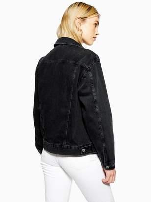 Topshop Denim Jacket - Black