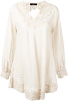 Steffen Schraut floral lace blouse - women - Linen/Flax - 34