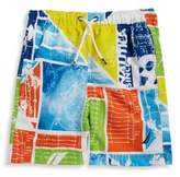 Nautica Boys' Oliver Graphic Swim Trunks