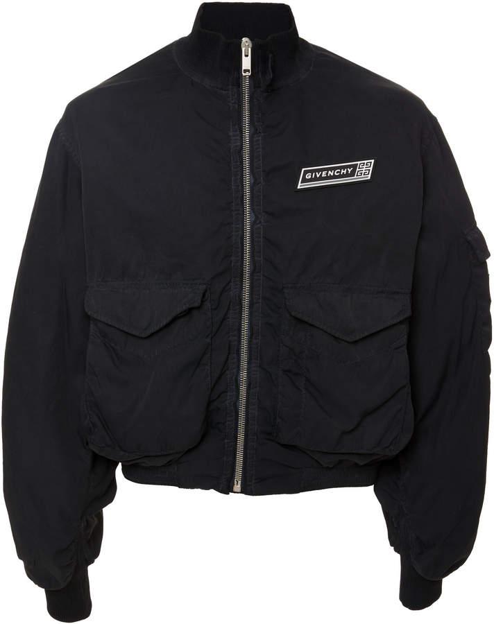 Givenchy Logo-Appliquéd Shell Bomber Jacket