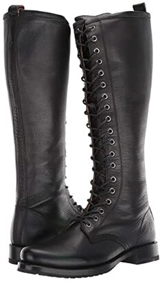 Frye Veronica Combat Tall (Black) Women's Boots