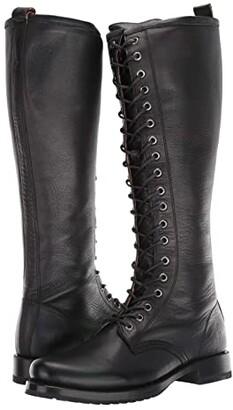 Frye Veronica Combat Tall (Black) Women's Boots