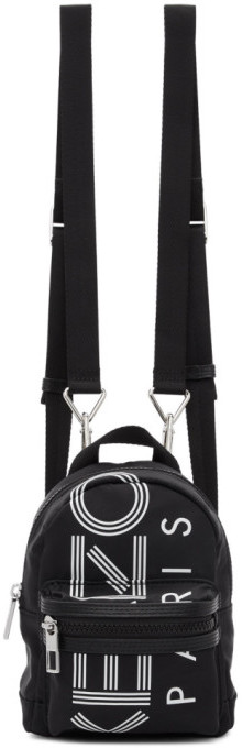 Kenzo Black Mini Logo Backpack