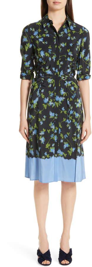 Altuzarra Floral Print Silk Dress