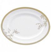 "Vera Wang by Wedgwood Vera Lace Gold China 13"" Oval Platter"