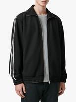 AllSaints Josh Funnel Neck Stripe Hoodie, Black