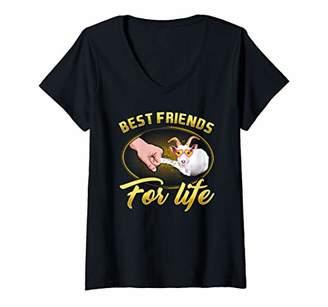Womens Goat Best Friends For Life Gift Friend V-Neck T-Shirt