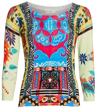 Etro Mosaic Tile-Print Sweater