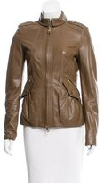 Burberry Leather Zipped Jacket
