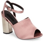 Topshop Women's Regina Satin High Heel Sandal