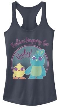 Disney Pixar Juniors' Toy Story 4 Ducky Bunny Pastel Ideal Racerback Tank Top