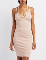 Charlotte Russe Strappy Caged Bodycon Dress