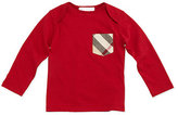 Burberry Callum Long-Sleeve Jersey Tee, Size 3M-3Y