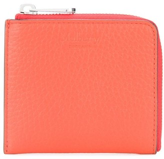 Mulberry Embossed Logo Zipped Wallet