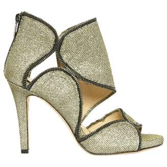 Jimmy Choo \N Gold Cloth High Heel