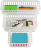 Container Store Small Utility Bin Translucent