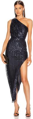 Mason by Michelle Mason One Shoulder Dress in Midnight | FWRD