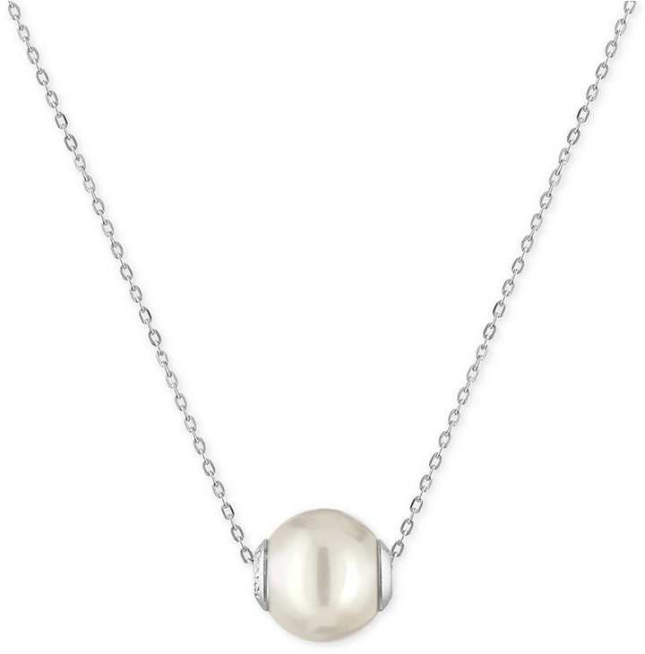 Majorica Sterling Silver Imitation Pearl Pendant Necklace