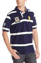 U.S. Polo Assn. Men's Tri Color Stripe Pique Polo Shirt