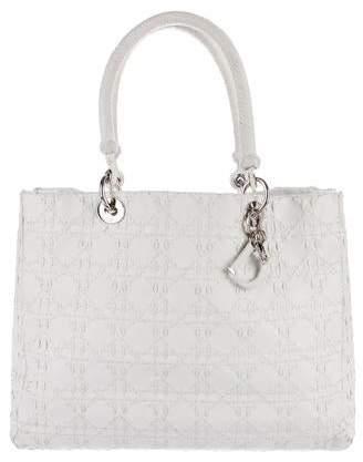 Christian Dior Large Braided Lady Bag