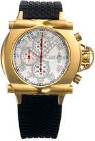 Equipe Gold & White Rollbar Chronograph Watch