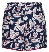 Piamita Bettie mermaid-print silk shorts