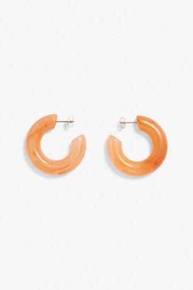 Monki Chunky hoop earrings