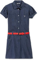 GUESS Polka-Dot Denim Dress, Big Girls (7-16)