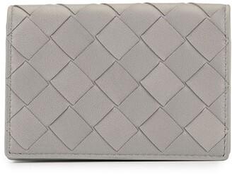 Bottega Veneta Woven Bi-Fold Card Holder
