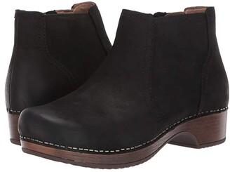 Dansko Barbara (Black Burnished Nubuck) Women's Shoes