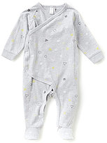 Petit Lem Newborn-6 Months Shapes Printed Asymmetrical Footed Coverall