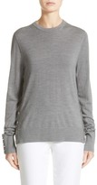 Michael Kors Women's Snap Detail Merino Wool Sweater