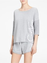 Calvin Klein Performance Dolman 3/4 Sleeve Logo T-Shirt