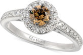 LeVian Le Vian® Bridal Diamond Halo Engagement Ring (3/4 ct. t.w.) in 14k White Gold