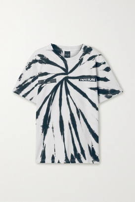 P.E Nation Real Challenger Tie-dyed Cotton T-shirt - White