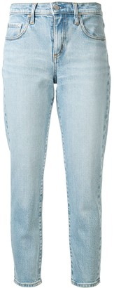 Nobody Denim Mid-Rise Slim Cropped Jeans