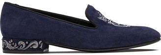 Church's Arielle crest embroidered loafers