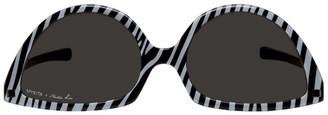 Martine Rose Black and White Mykita Edition Zebra SOS Sunglasses