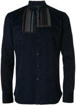 Kolor striped panel detail shirt - men - Cotton - 2