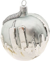 Big Apple Ornament- Silver