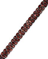 Macy's Garnet Three-Row Bracelet in Sterling Silver (25 ct. t.w.)