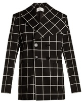 Marques Almeida Checked double-breasted cotton-blend blazer