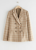 Thumbnail for your product : And other stories Wool Blend Plaid Blazer