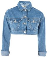 Topshop Moto shrunken crop denim jacket