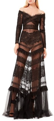 ZUHAIR MURAD Jatuarana Lace Off-The-Shoulder Gown