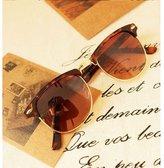 Gant GAMT Retro Half-frame Polarized Sunglasses Wayfarer for Men Frame Glasses Black-Gree