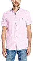 Ted Baker Men's Mysong Short Sleeve Horizontal Stripe Shirt Modern Slim Fit