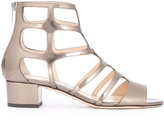 Jimmy Choo Ren 35 caged sandals - women - Calf Leather/Leather - 36