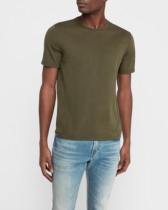 Express Luxe Comfort Knit Crew Neck T-Shirt