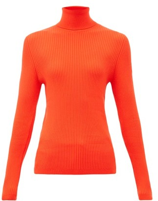 Fusalp Ancelle Rib-knitted Roll-neck Top - Red